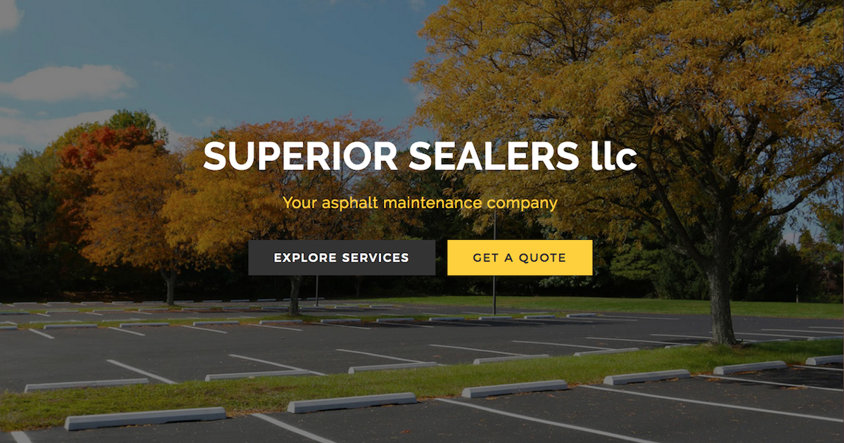 Your asphalt maintenance company superior sealers llc solutioingenieria Choice Image